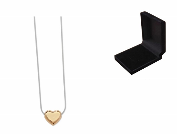 Engraved Gold Plated Heart Necklace