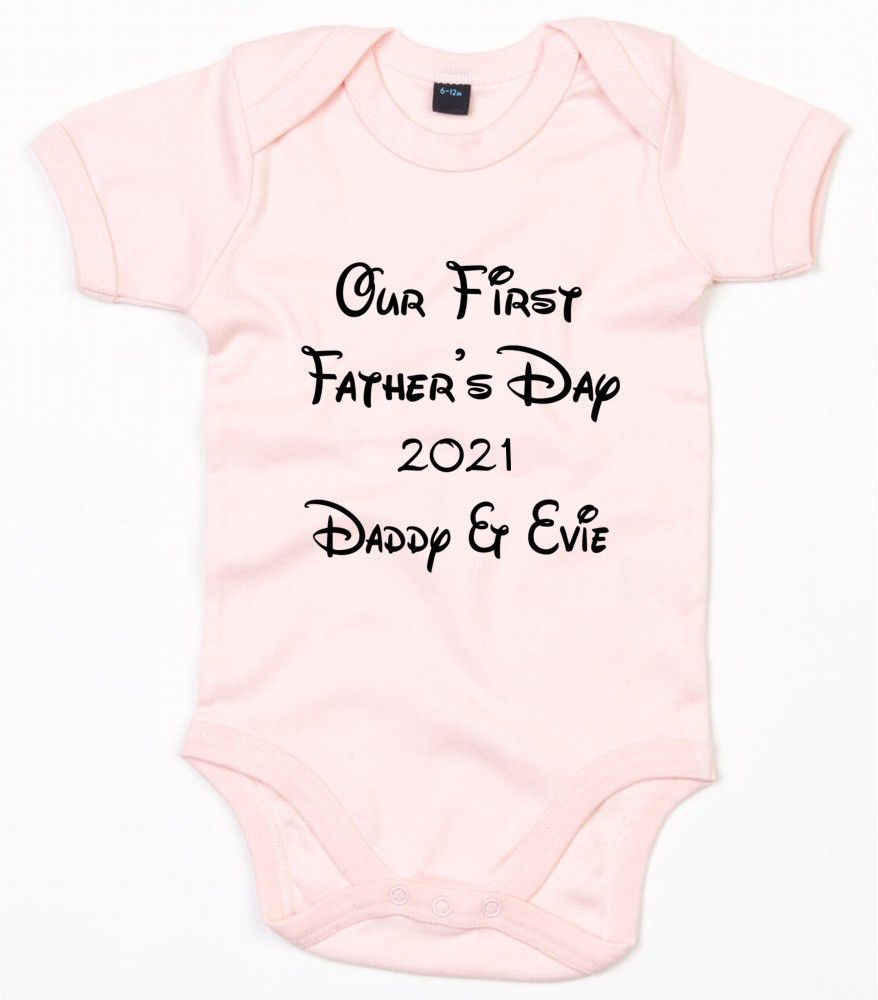 Personalised Our First Father's Day Baby Bodysuit
