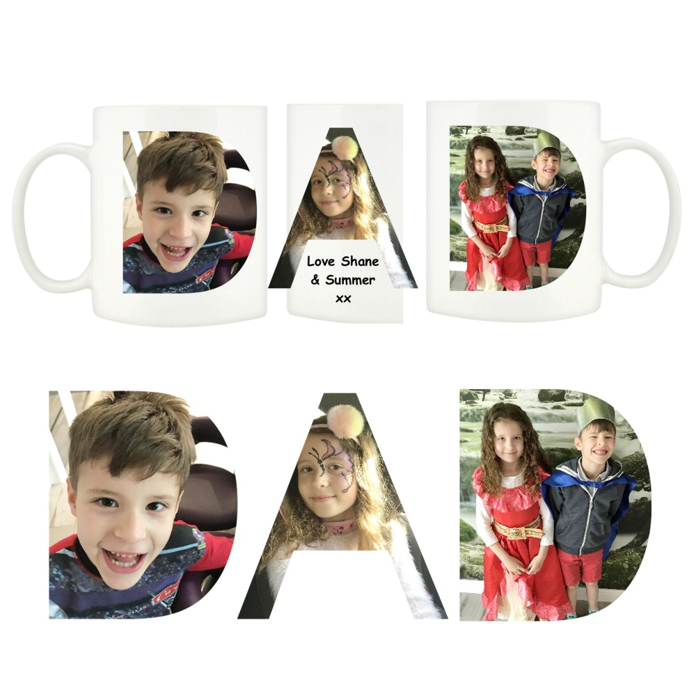 Personalised DAD Photo Mugs