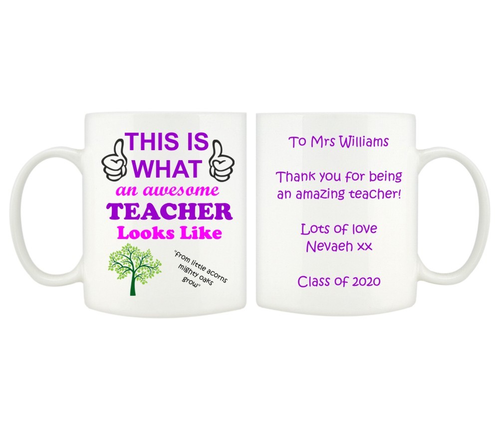 Personalised Thank You Teacher Mugs