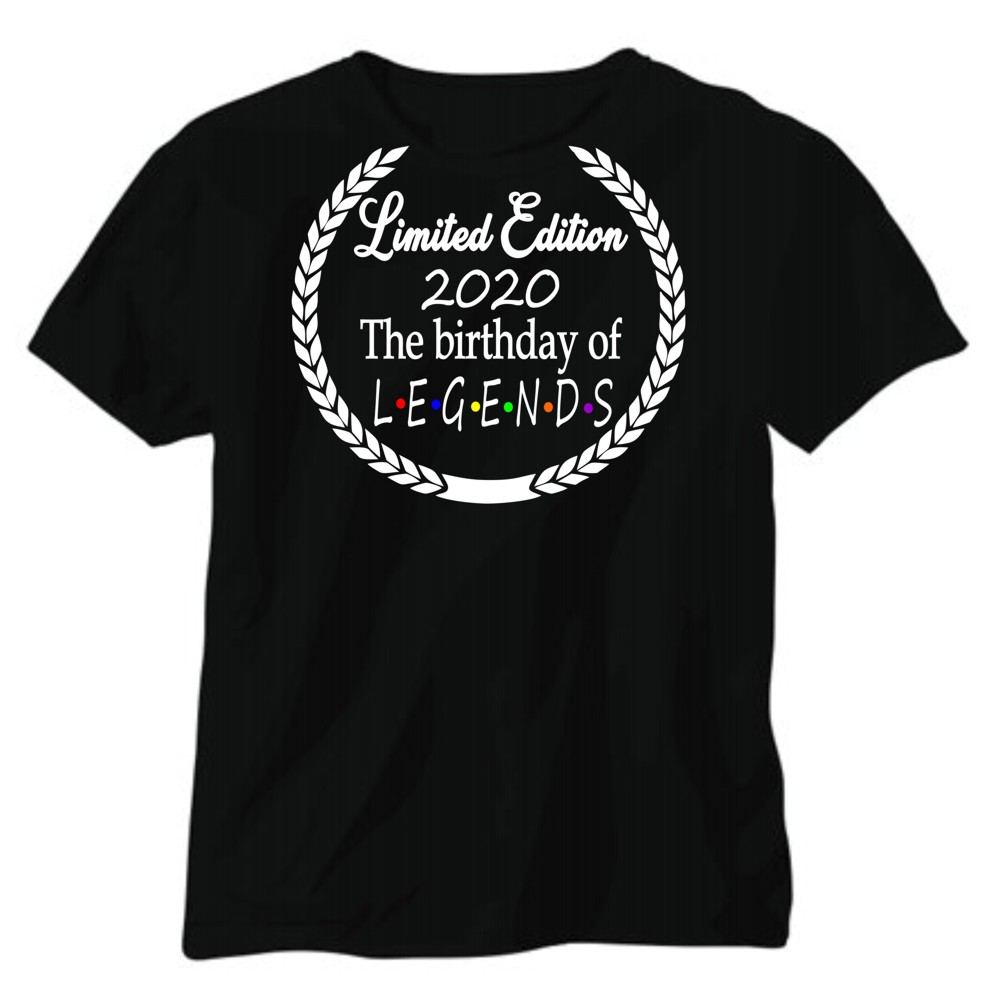 Personalised Friends Style Birthday of Legends T-shirt