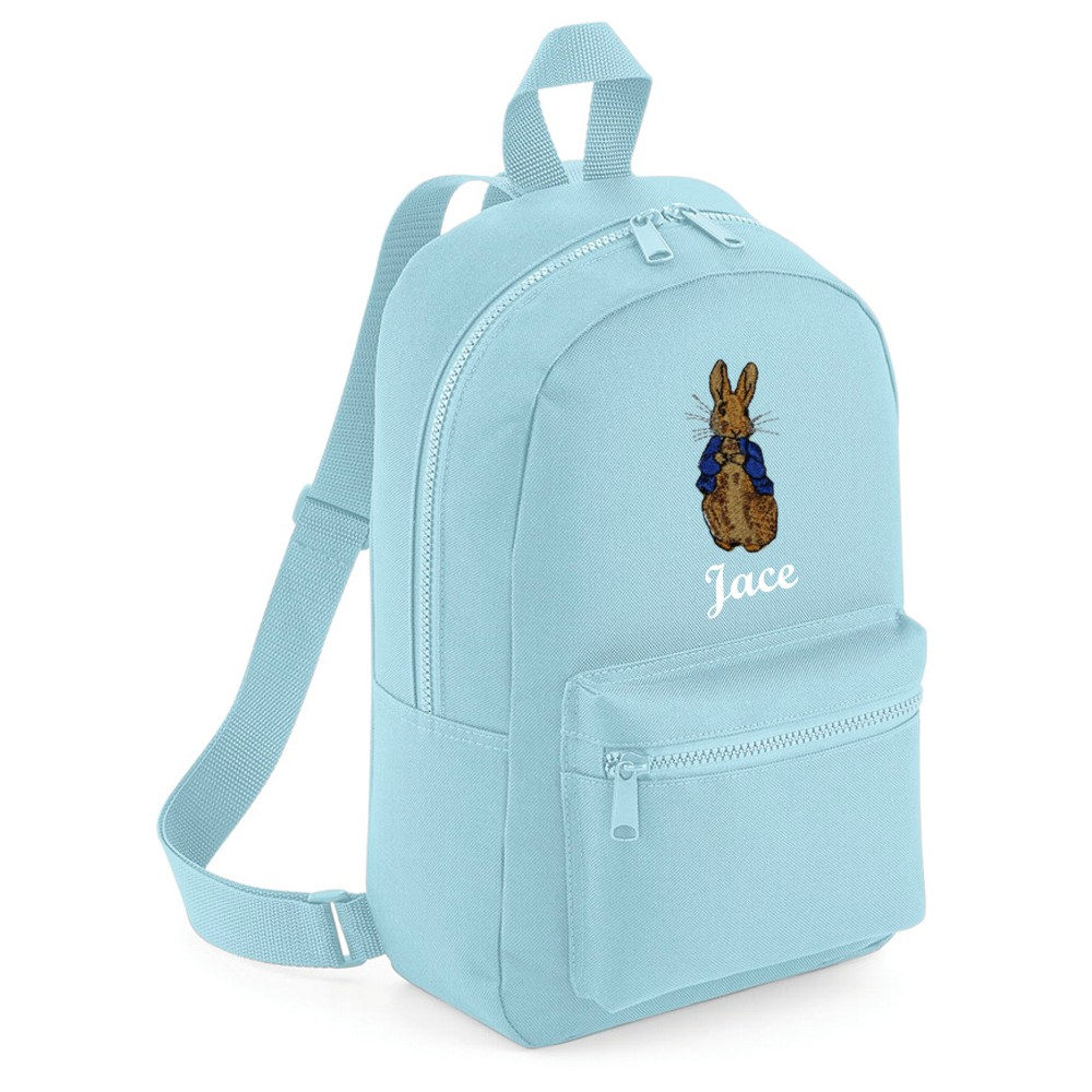 Personalised Embroidered Bunny Rabbit Backpack