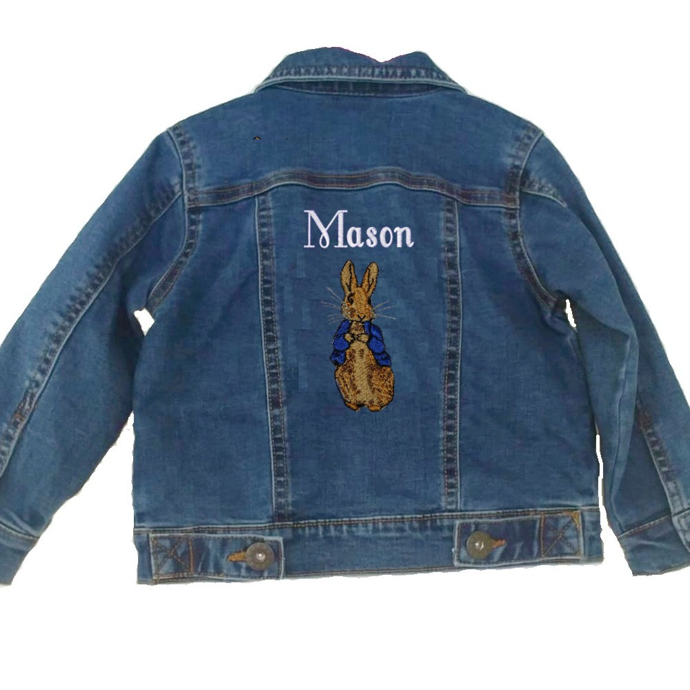 Personalised Children's Bunny Rabbit Denim Jacket