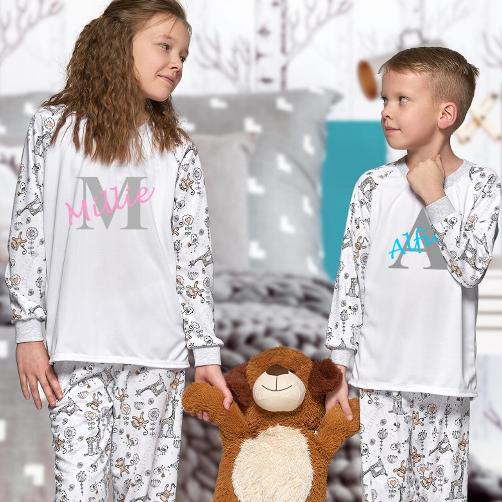 Personalised Childrens Matching Pyjamas
