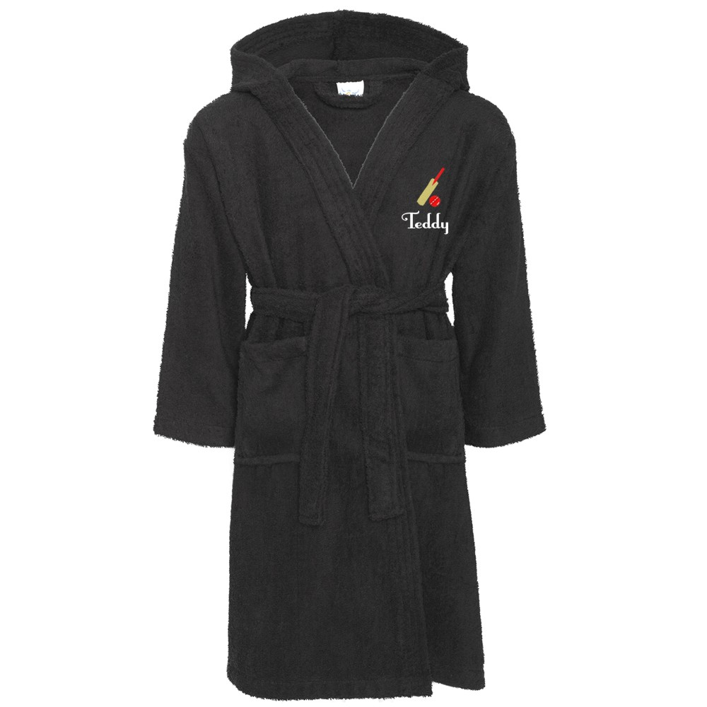 Embroidered Children's Cricket Robe Dressing Gown