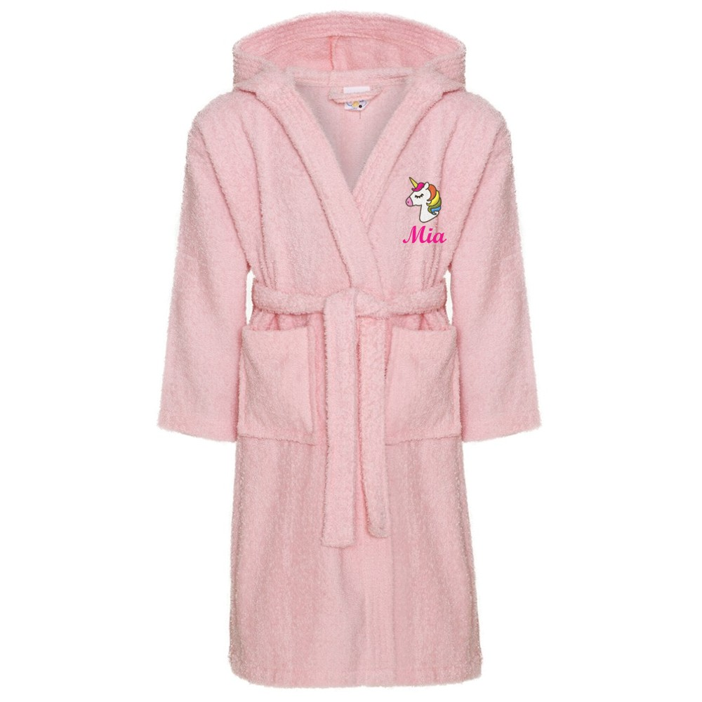 Embroidered Children's Unicorn Robe Dressing Gown