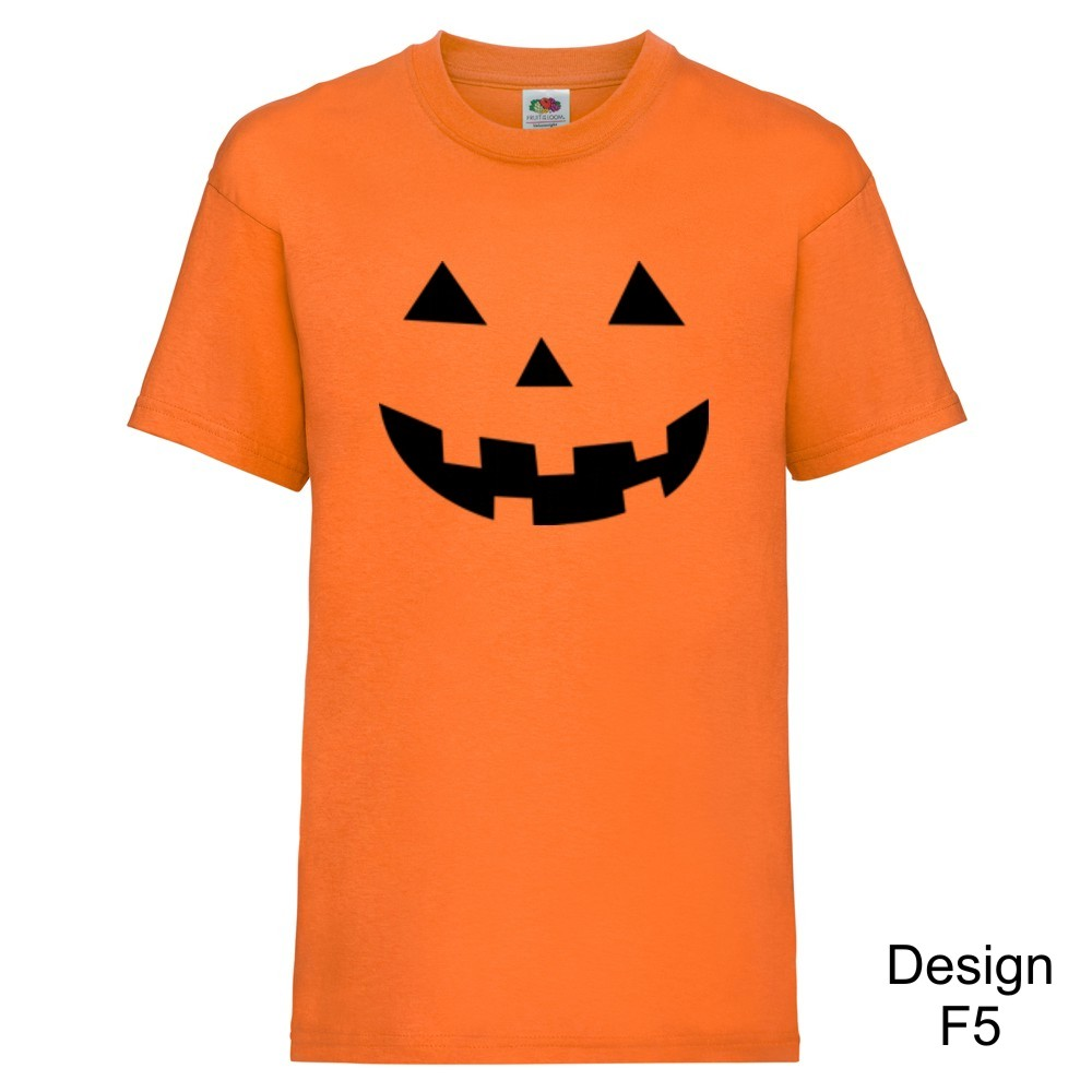 Personalised Childrens Jack O Lantern Halloween T-shirts