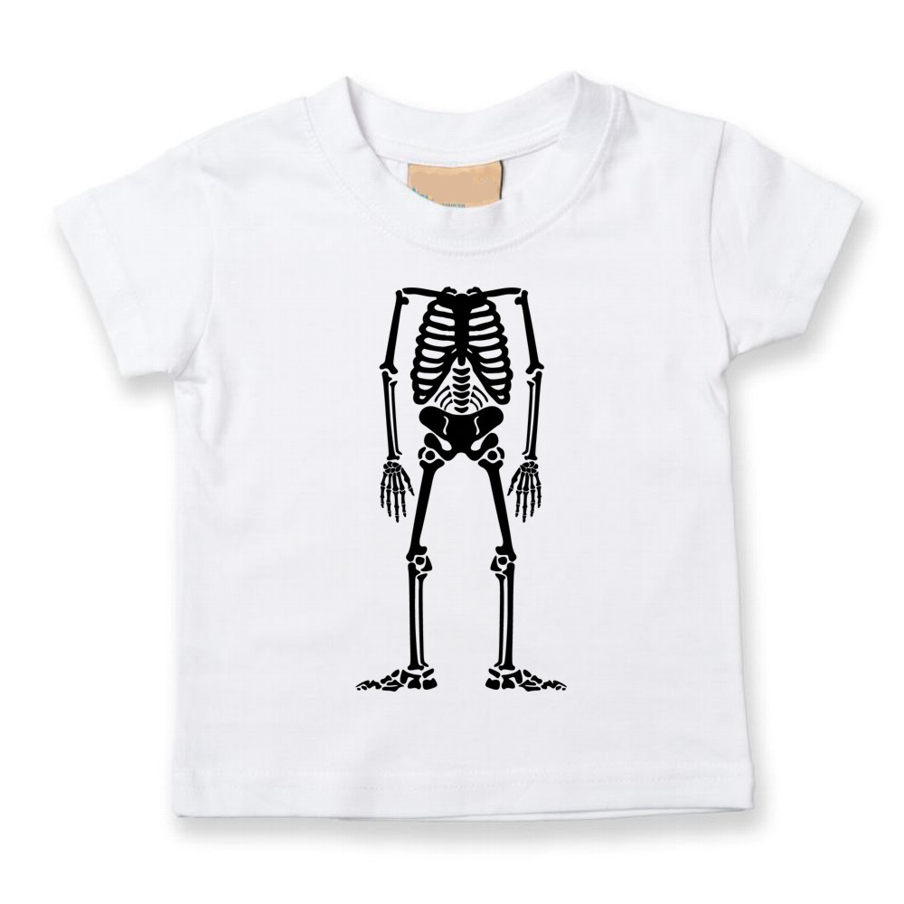 Personalised Childrens Skeleton Halloween T-shirts