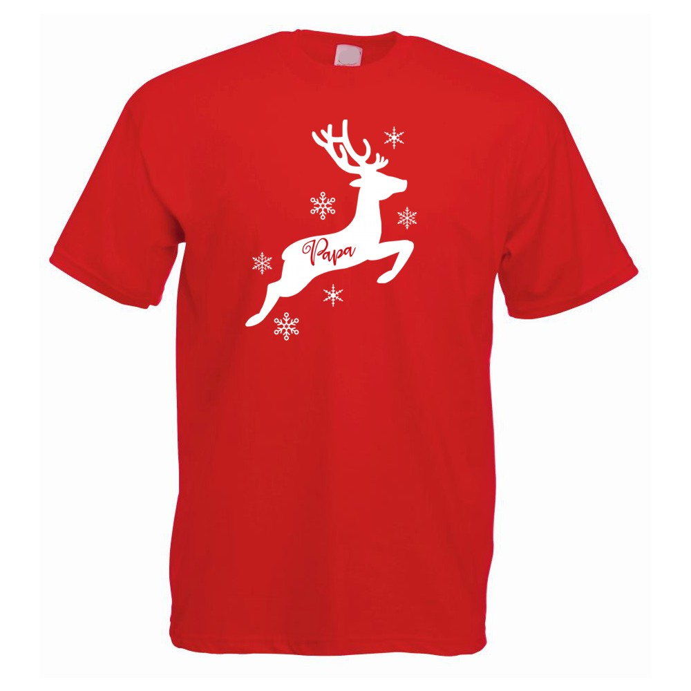 Personalised Mens Christmas Reindeer Tshirts