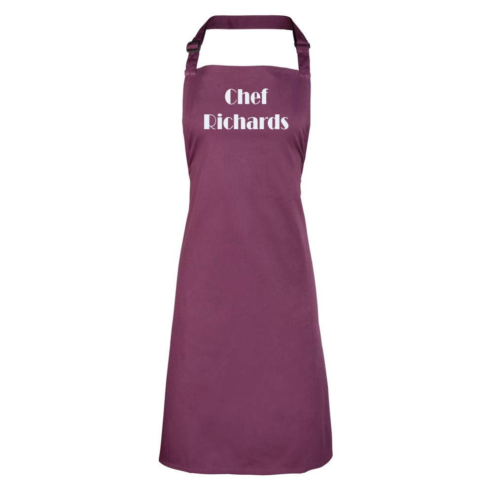 Personalised Coloured Bib Aprons