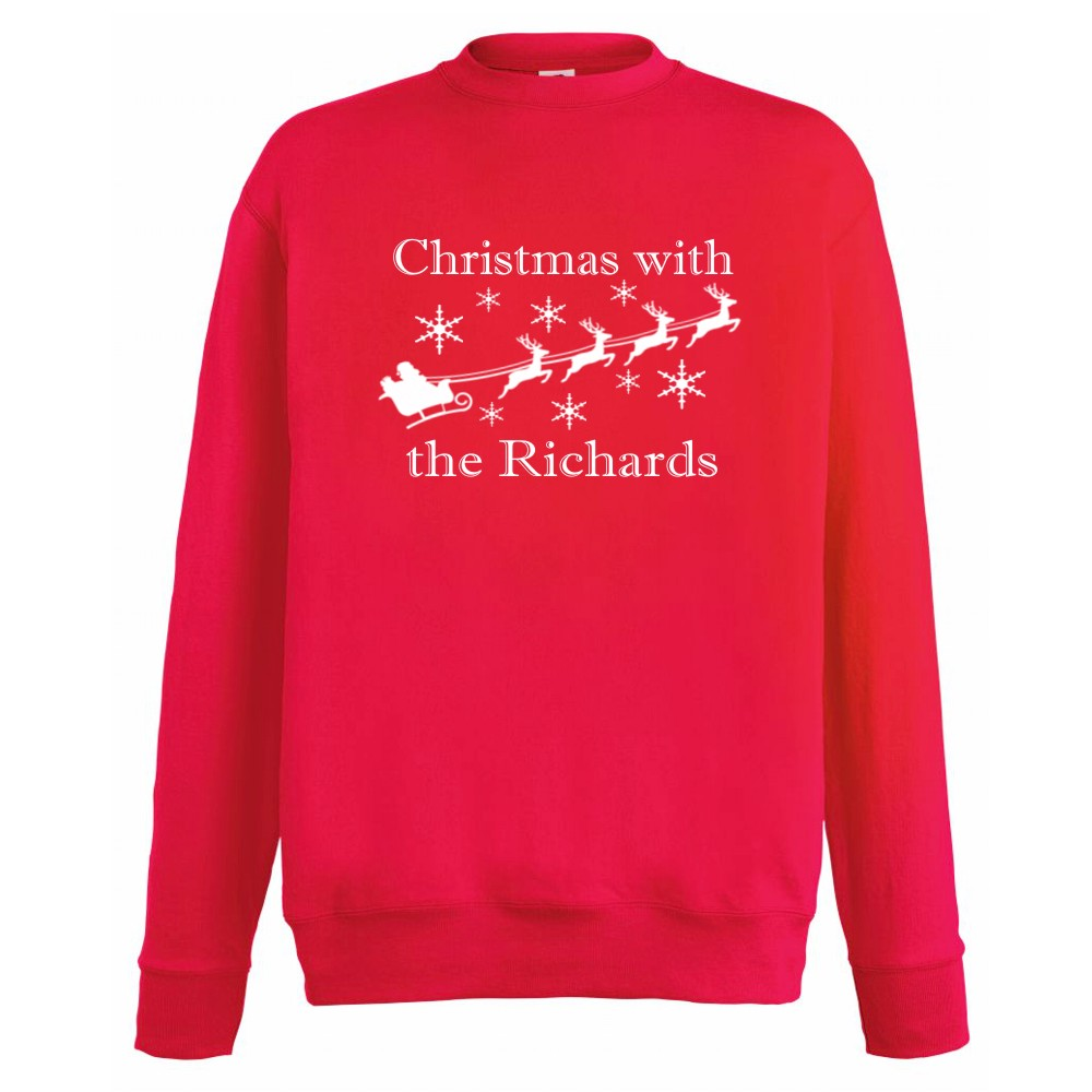 Personalised Adults Family Matching Christmas Jumpers