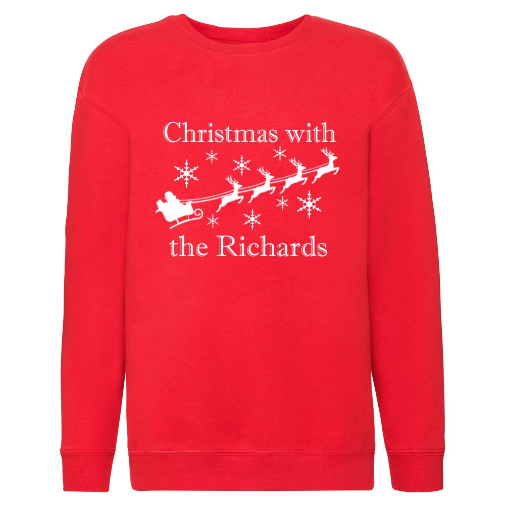 Personalised Childrens Family Matching Christmas Jumpers