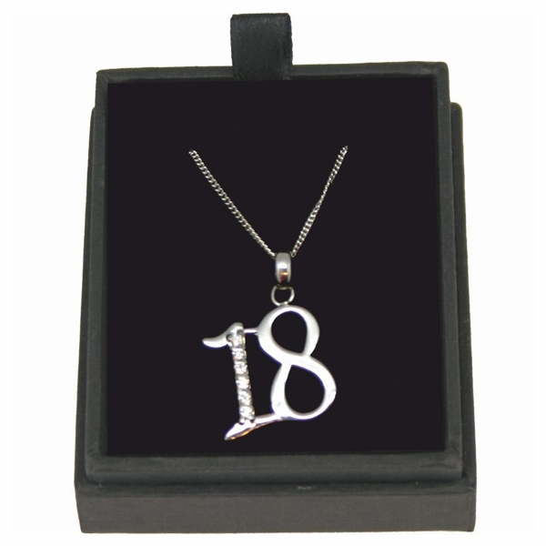 18th Birthday Necklace with Personalised Gift Box