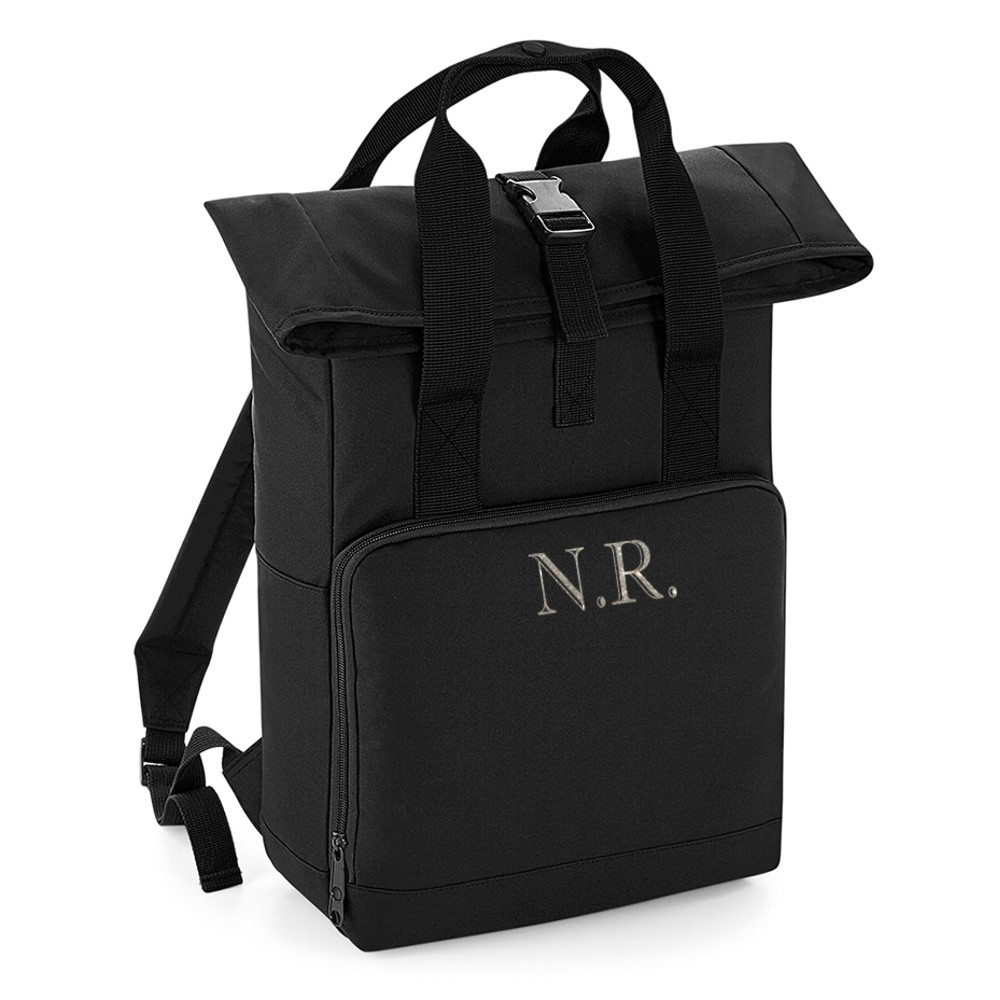 Personalised Monogram Roll Top Backpack