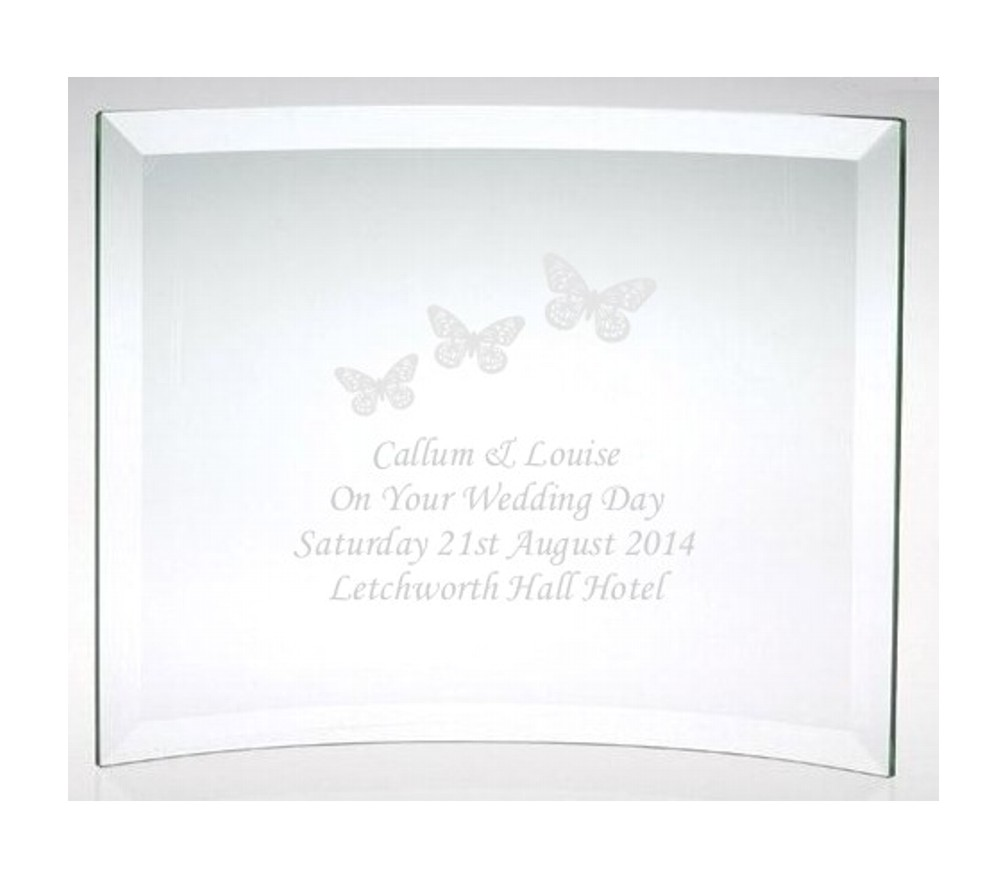 Engraved On Your Wedding Day Butterflies Plaque