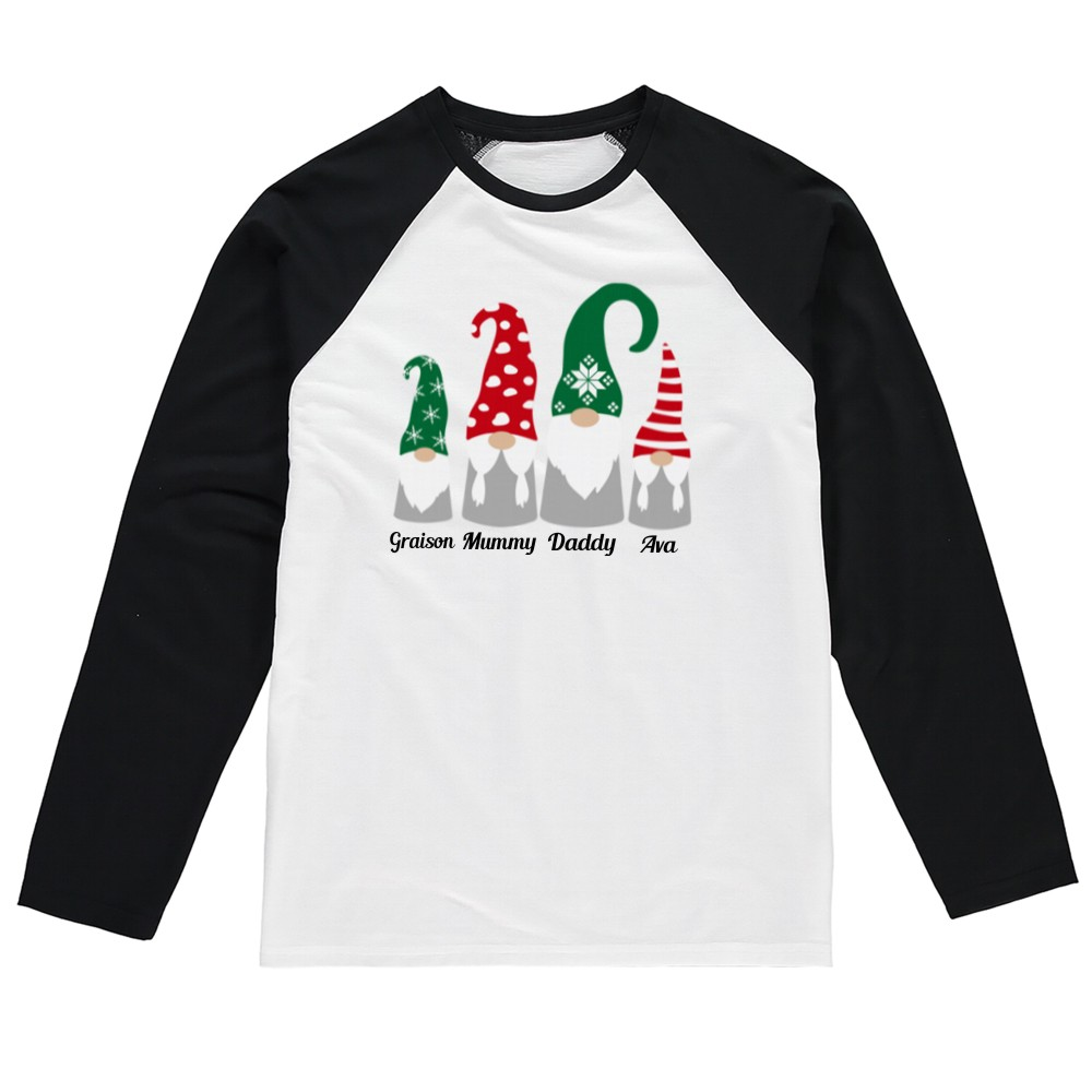 Gnome Family Matching Adults Christmas Tshirts
