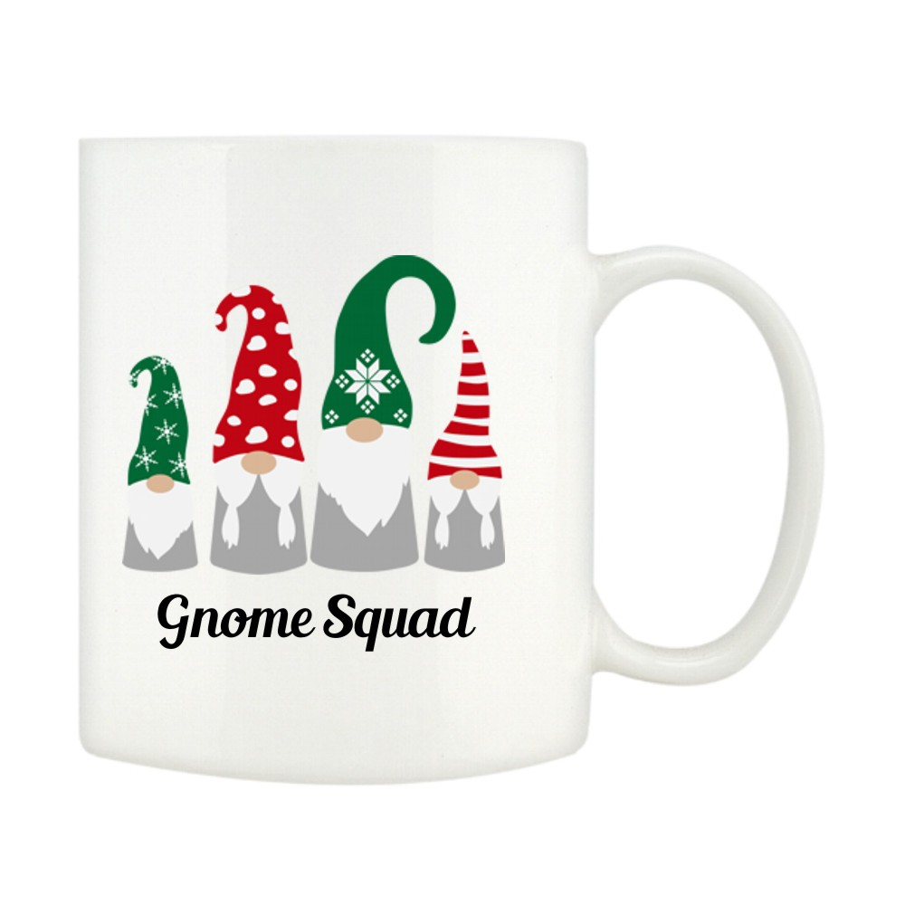 Personalised Gnome Squad Christmas Mugs