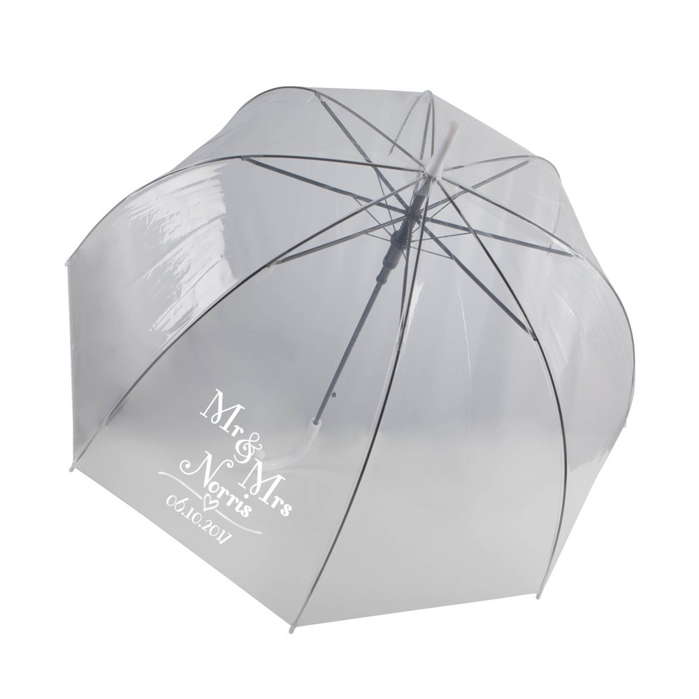 Personalised Bubble Wedding Umbrella