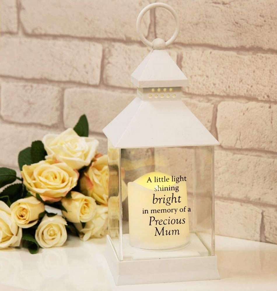 Thoughts Of You Graveside Memorial Lantern - Mum