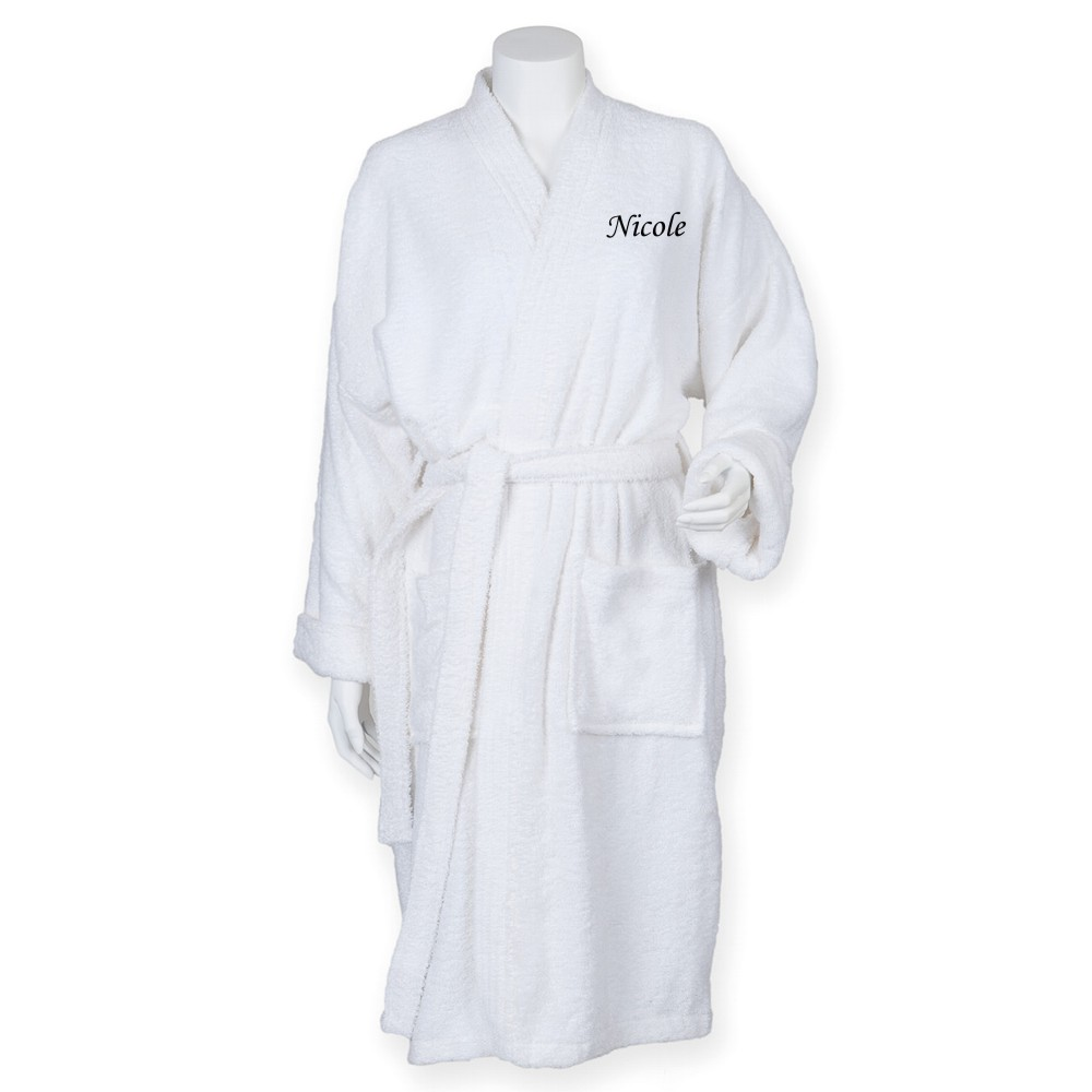 Personalised Ladies Mens Dressing Gown