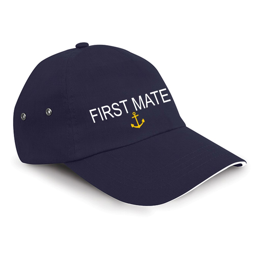 Embroidered FIRST MATE Boating Cap