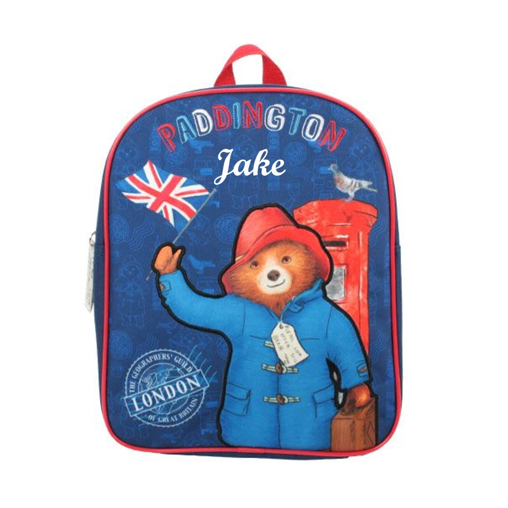 Personalised Paddington Bear Backpack