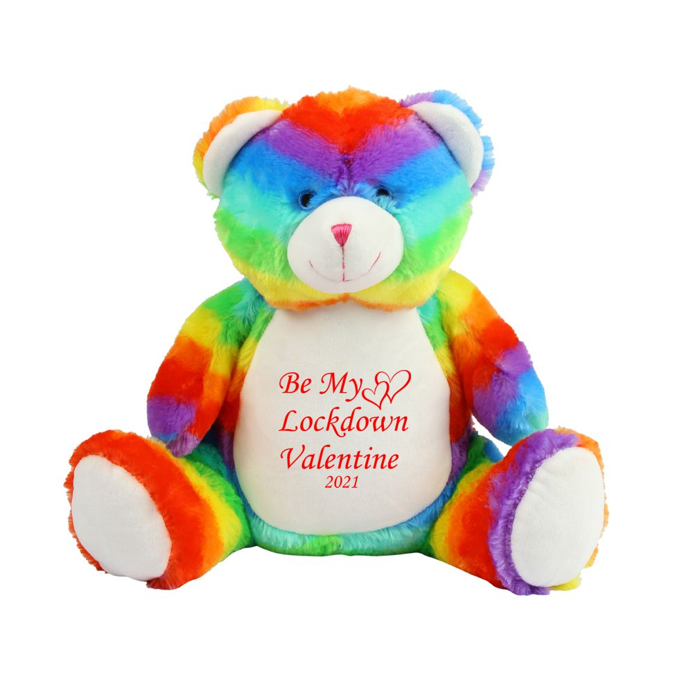 Personalised Be My Lockdown Valentine Teddy Bear