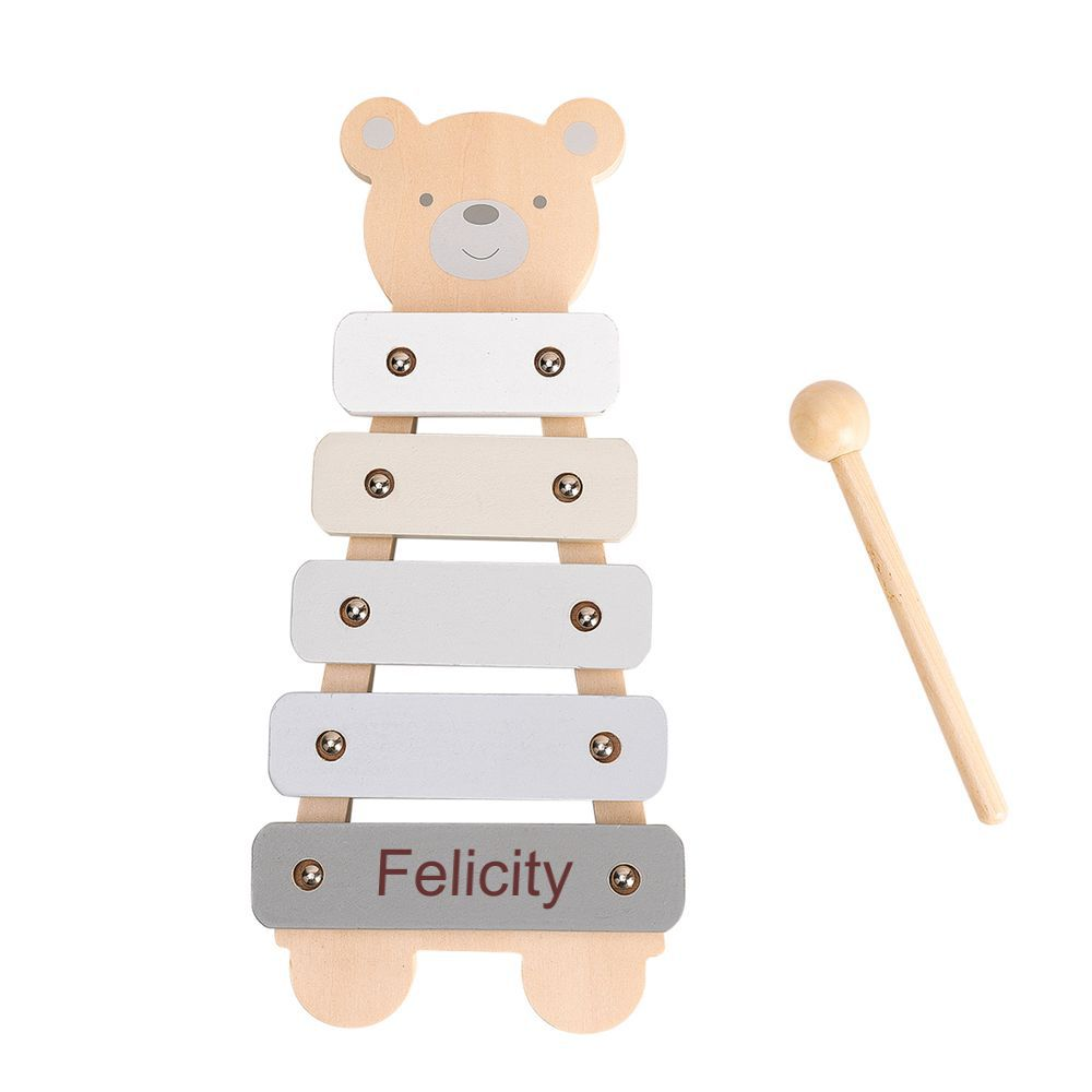 Personalised Wooden Teddy Bear Xylophone