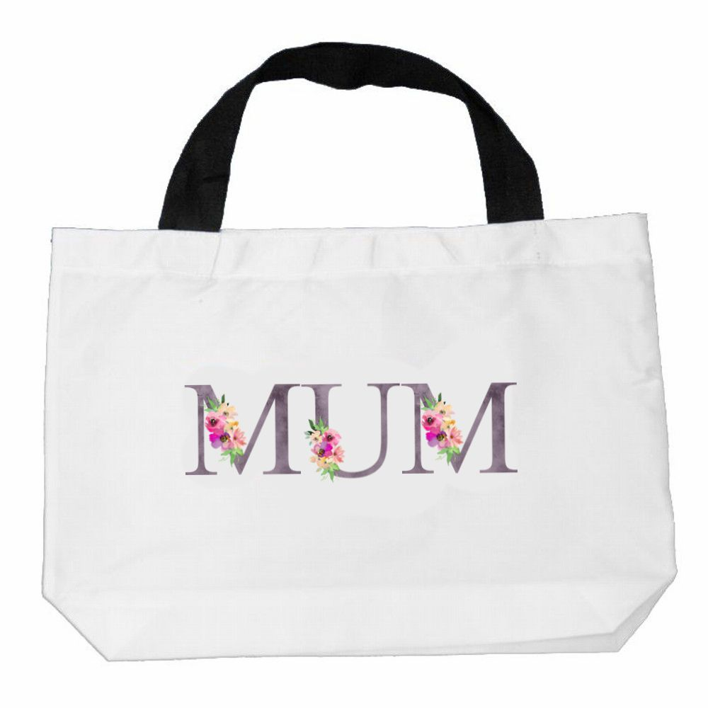 Personalised Watercolour Mum Nan Canvas Bag