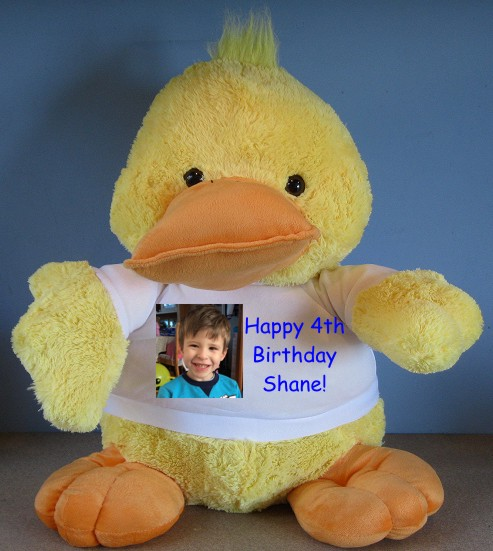 Personalised Giant Duck Cuddly Toy