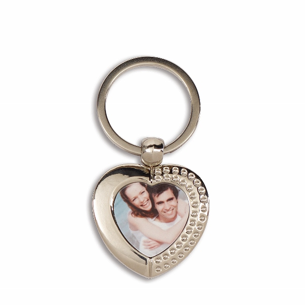 Personalised Full Colour Heart Keyring