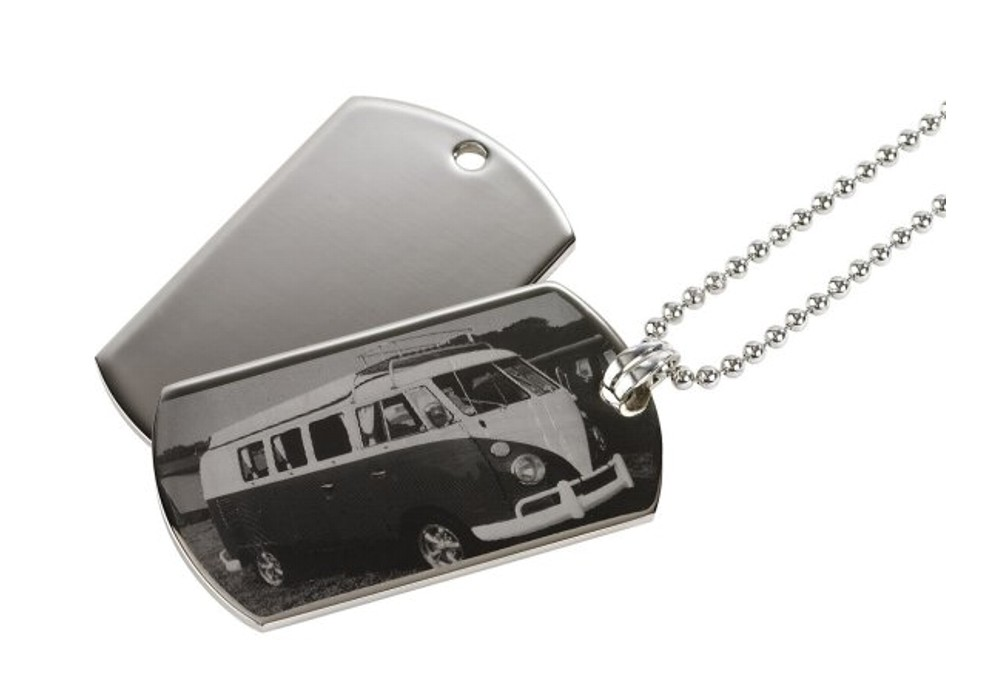 Personalised Photo Engraved ID Tag Pendant
