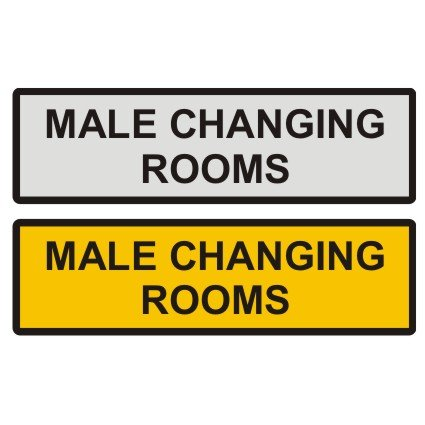 Male Changing Room Door Sign