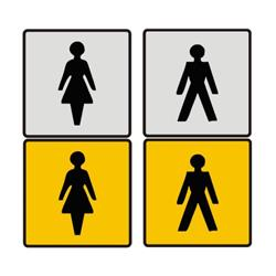 Male And Female Toilet Door Sign A1 Personalised Gifts