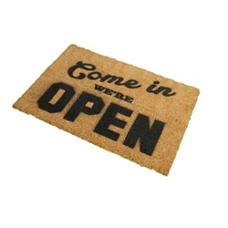 Come In We're Open Doormat